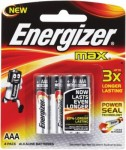 Energizer Max AAA 4 cell
