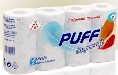Puff Super Soft  White 8 rolls Toilet paper